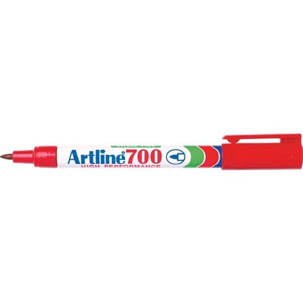Artline 700 Permanent Marker 0.7mm Bullet Nib Red BOX12 170002
