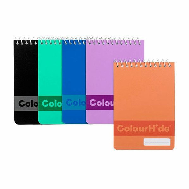 Colourhide Pocket Notebook 96page Assorted X CARTON of 4 1715499K
