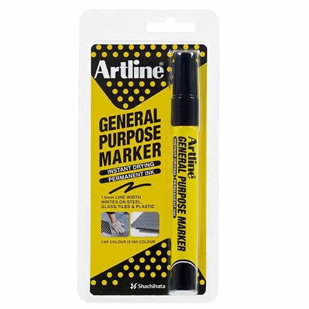 Artline General Purpose Permanent Marker Black Hangsell X CARTON of 12 195101HS