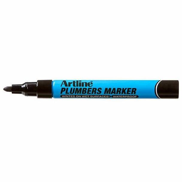 Artline Plumbers Permanent Marker Black BOX12 195501B