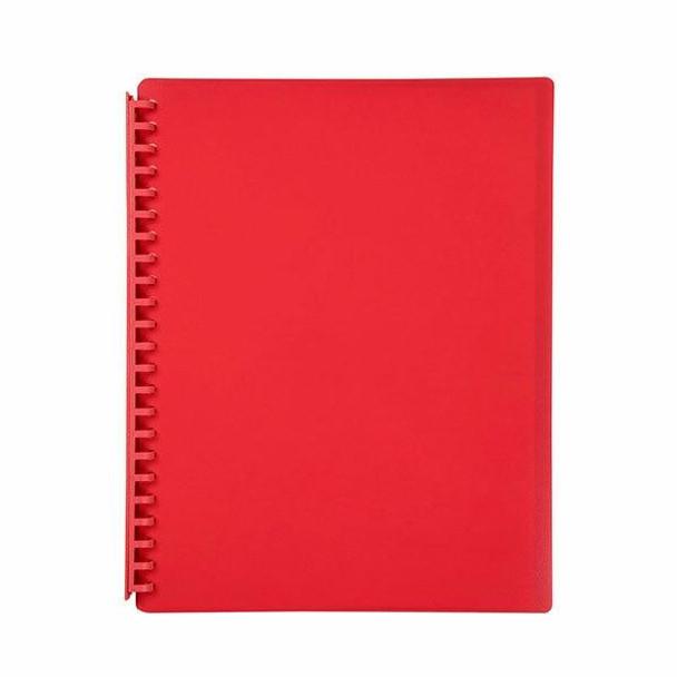 Marbig Refillable Display Book 20 Pocket Red X CARTON of 12 2007003