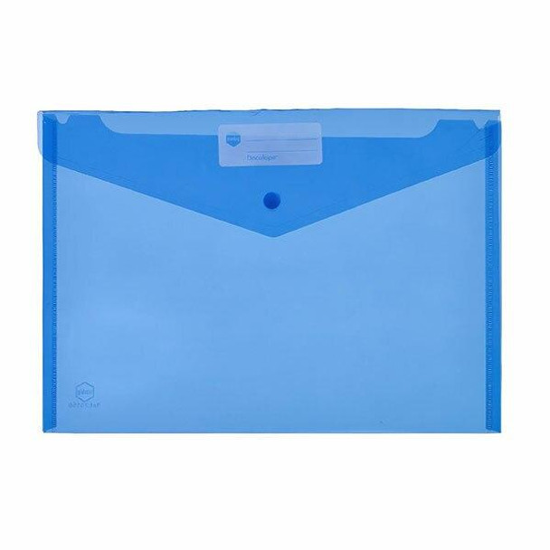 Marbig Doculope Document Wallet A4 Blue X CARTON of 10 2015001