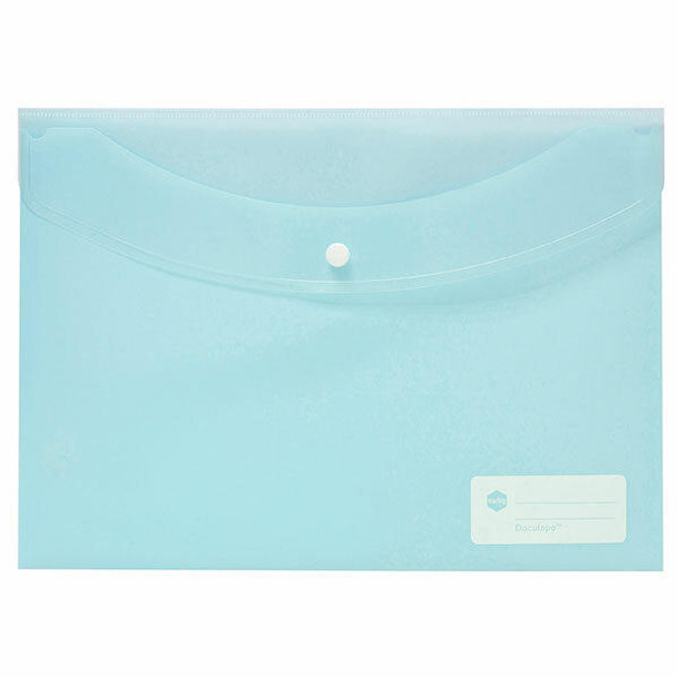 Marbig Doculope Document Wallet A4 Pastel Blue X CARTON of 10 2015091