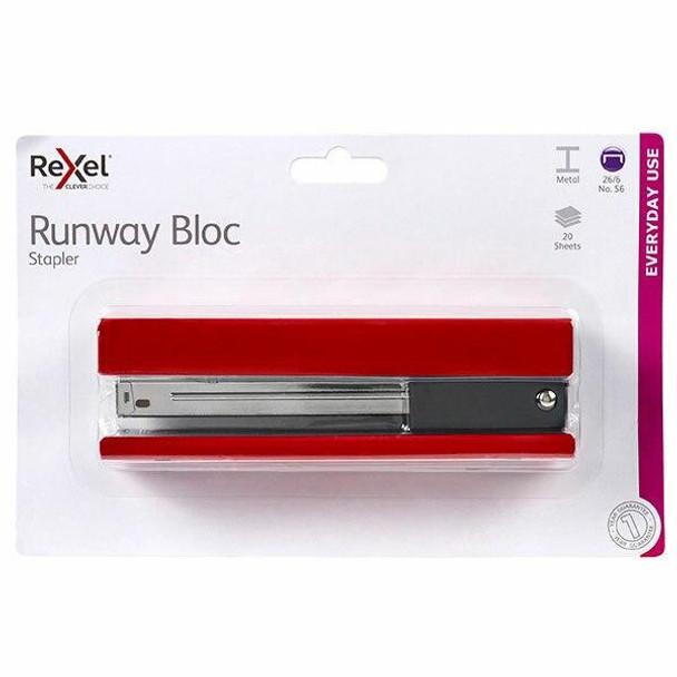Rexel Stapler Full Strip Runway Red 210825