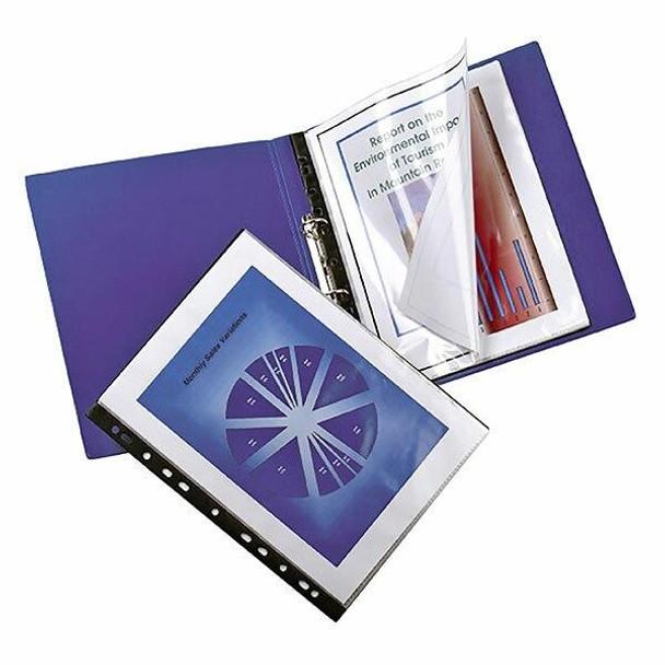 Marbig Binder Display Book 20 Pocket Clear/Black X CARTON of 10 22005