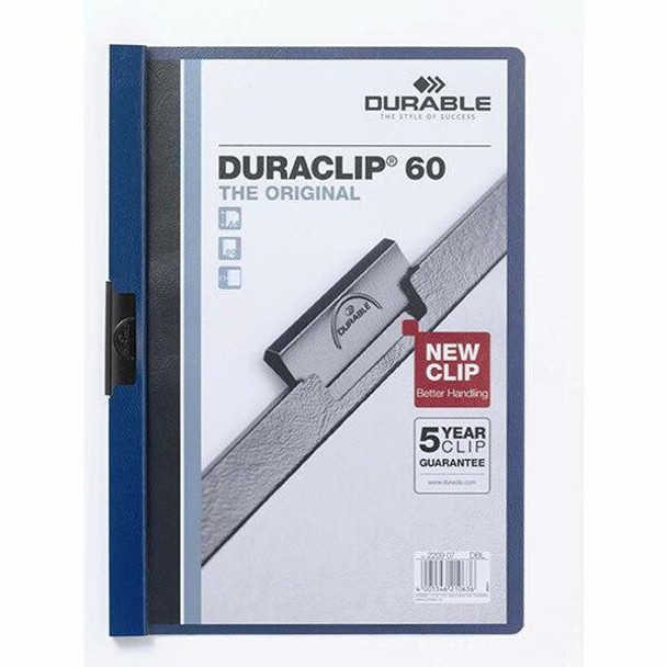 DURABLE Duraclip Document File A4 60 Sheet Dark Blue 220907