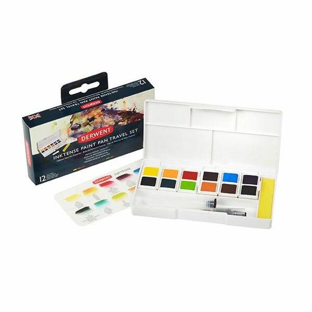 DERWENT Inktense Paint Pan Travel Set Cd 12 2302637