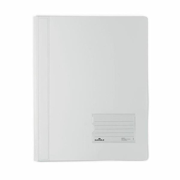 DURABLE Premium Flat File A4 Extra Wide Transluscent White 268002
