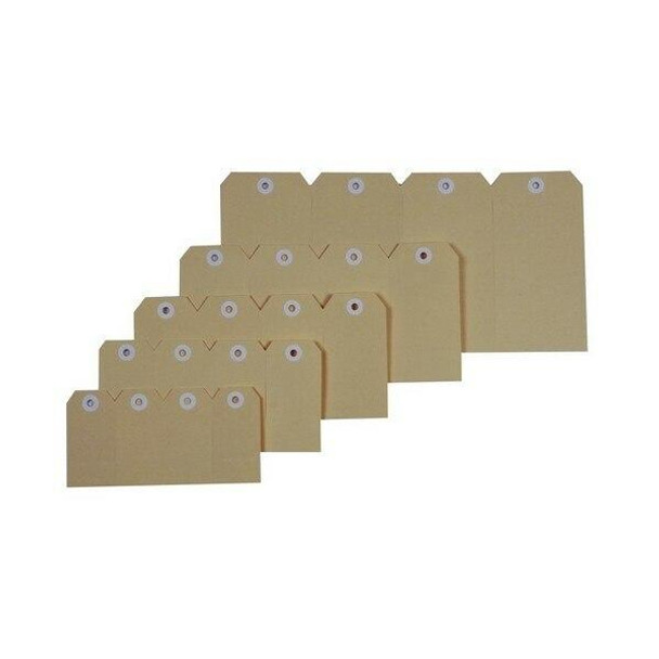 Esselte Shipping Tags No.3 48x96mm Buff 38985