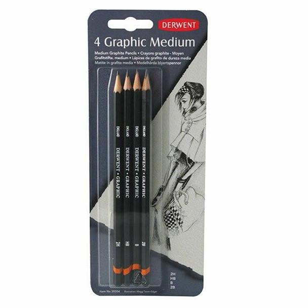 DERWENT Graphic Pencil Medium Pack4 X CARTON of 6 39004
