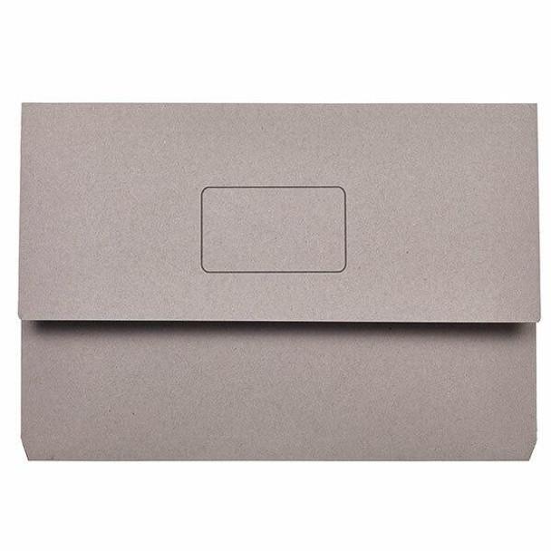 Marbig Slimpick Foolscap Document Wallet Grey X CARTON of 50 4004011