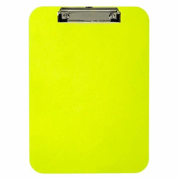 Marbig Professional Clipboard Plastic A4 Neon Green 40220