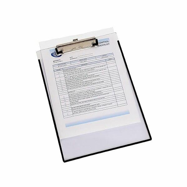 Marbig Clipboard Clearview W/ Insert Cover A4 X CARTON of 12 4320012