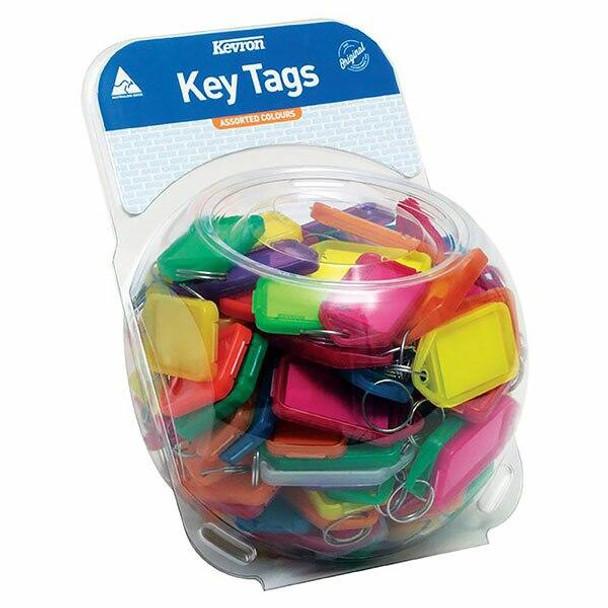 Kevron ID30 Keytags Assorted Tub 100 45388