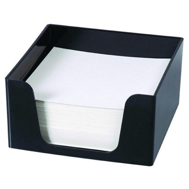 Esselte Sws Memo Cube W/500 Sheets Black 45894