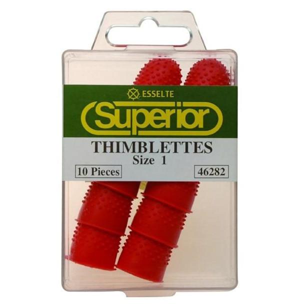 Esselte Superior Thimblettes Size 1 Box10 Red 46282