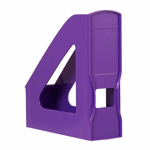 Esselte Nouveau Magazine File Purple X CARTON of 8 47400