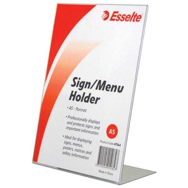 Esselte Sign/Menu Holder Slanted Port A5 47564