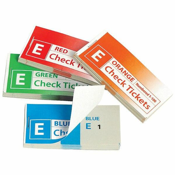 Marbig Check/Raffle Tickets Pack 4 Assorted X CARTON of 20 48102