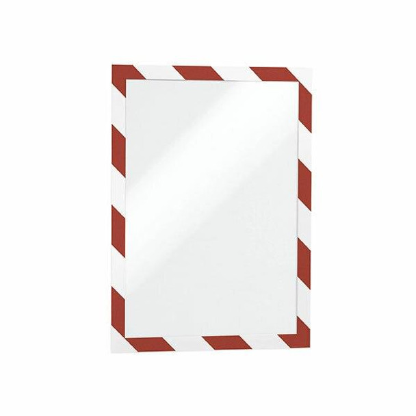 DURABLE Duraframe Security Self-Adhesive A4 Red/White 4944132