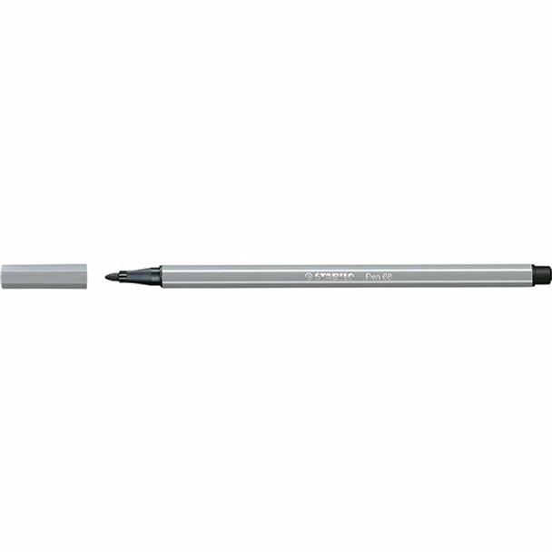 STABILO Pen 68 Fibre Tip Medium Cold Grey BOX10 49706