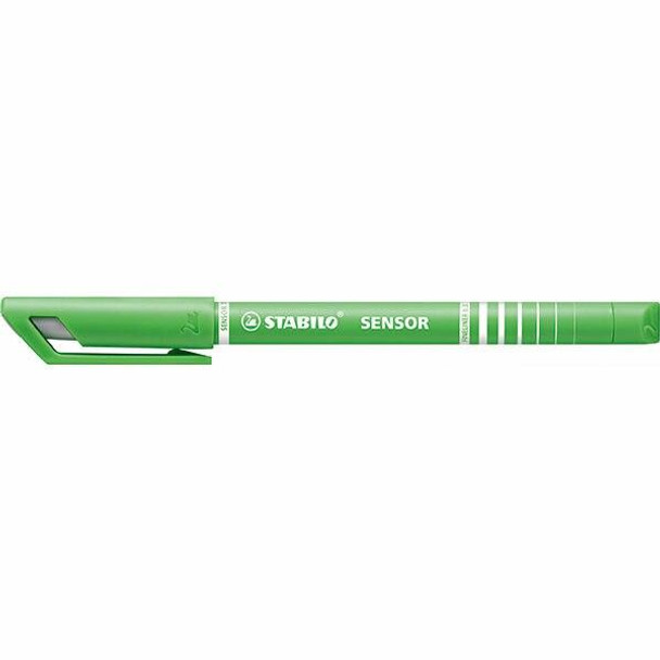STABILO Sensor Fineliner Light Green Box10 X CARTON of 10 49716