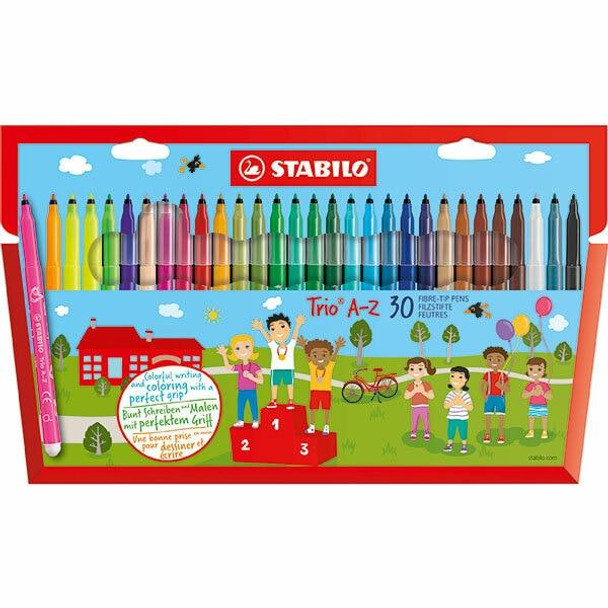 STABILO Trio Coloured Pencils Wallet30 X CARTON of 6 49729