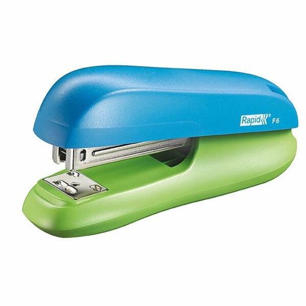 Rapid Stapler H/Strip F6 Blue/Green 5000364