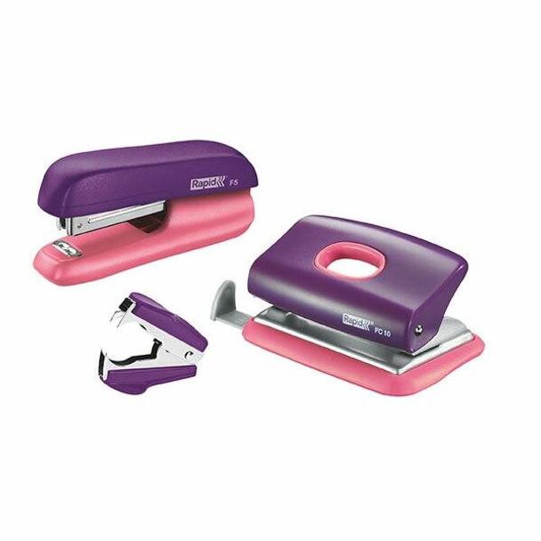 Rapid Stapler Mini F5 Purple/Apricot V/Pack 5000372