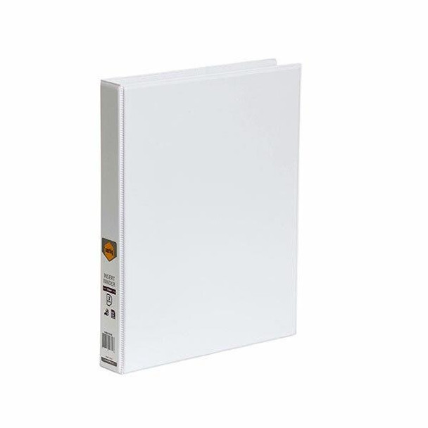 Marbig Clearview Insert Binder A4 25mm 3d White X CARTON of 20 5403008B