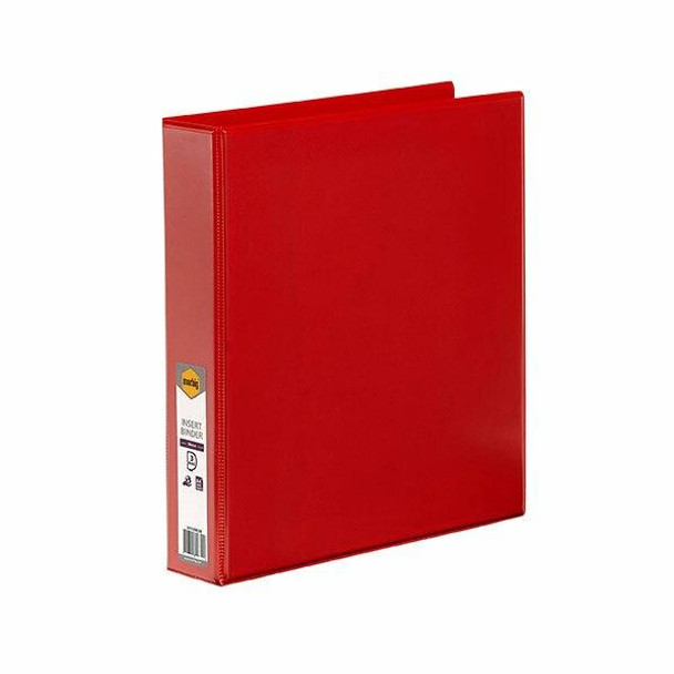 Marbig Clearview Insert Binder A4 38mm 3d Red X CARTON of 12 5413003B