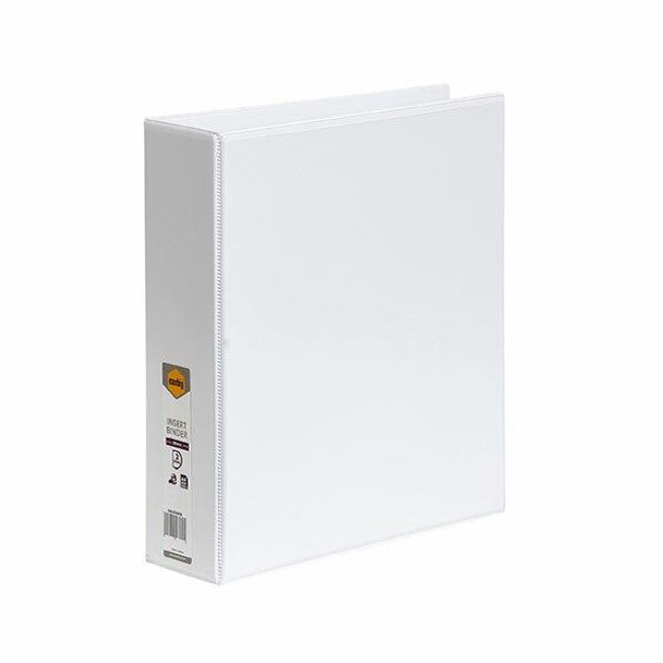 Marbig Clearview Insert Binder A4 50mm 2d White X CARTON of 12 5422008B