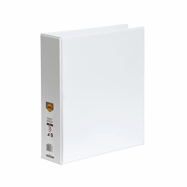 Marbig Clearview Insert Binder A4 50mm 3d White X CARTON of 12 5423008B