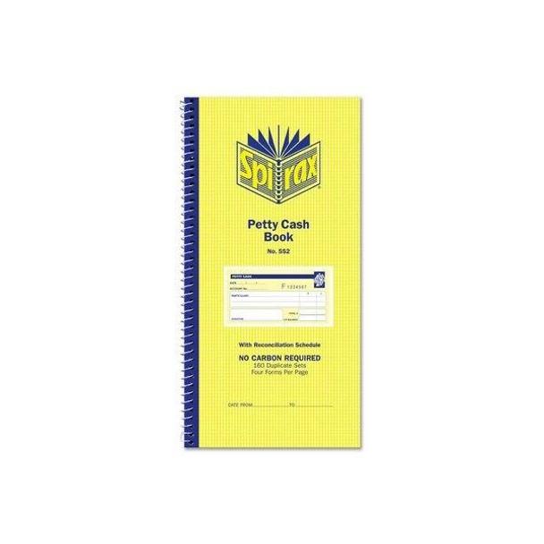 Spirax 552 Petty Cash Book 279x144mm X CARTON of 10 55229