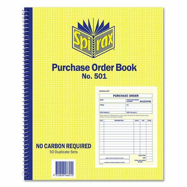 Spirax 501 Purchase Order Book Quarto 250x200mm X CARTON of 5 56501
