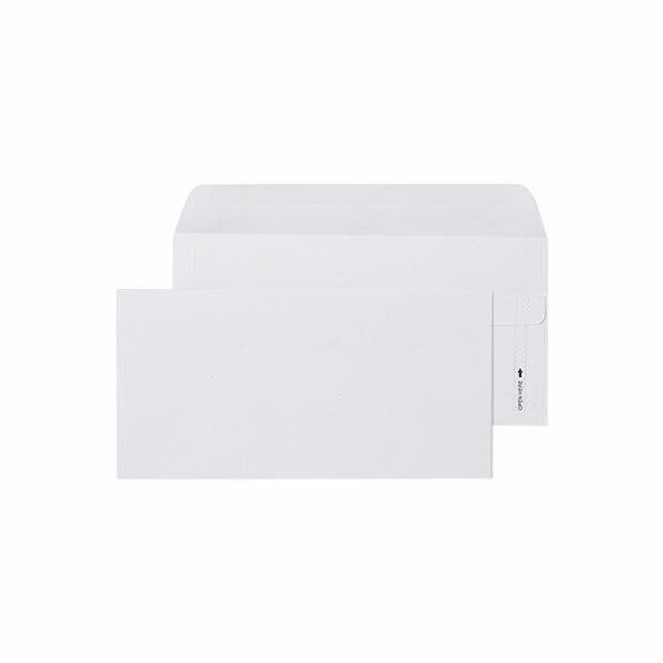 CUMBERLAND Self Seal Easy Open Envelope 80gsm Dl 110 X 220mm White Box500 603216