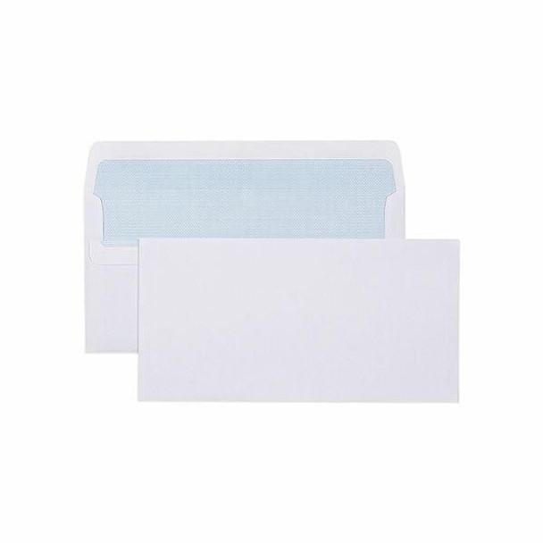 CUMBERLAND Self Seal Secretive Envelope 80gsm Dlx 120 X 235mm White Box500 605213