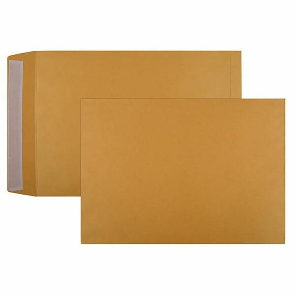 CUMBERLAND Strip Seal Pocket Envelope 100gsm 405 X 305mm Gold Box250 615329