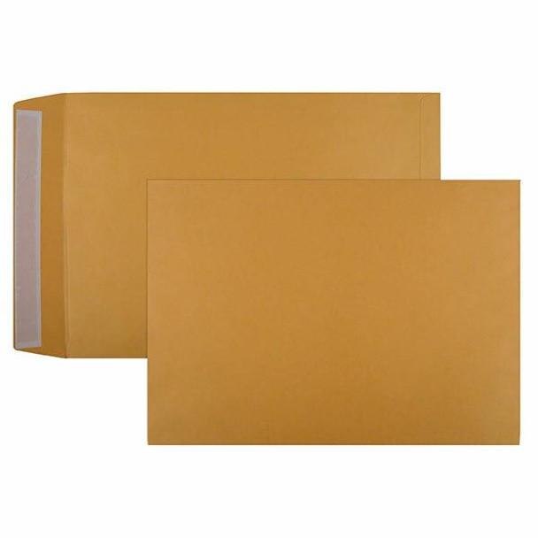 CUMBERLAND Strip Seal Pocket Envelope 100gsm C3 458 X 324mm Gold Box250 616329