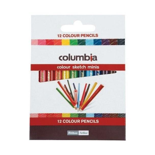 columbia Coloursketch Colour Pencil Round Half Length Pack12 X CARTON of 10 620012ASS