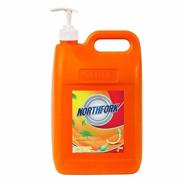NORTHFORK Natures Orange Pumice Hand Cleaner 5 Litre X CARTON of 3 637130700