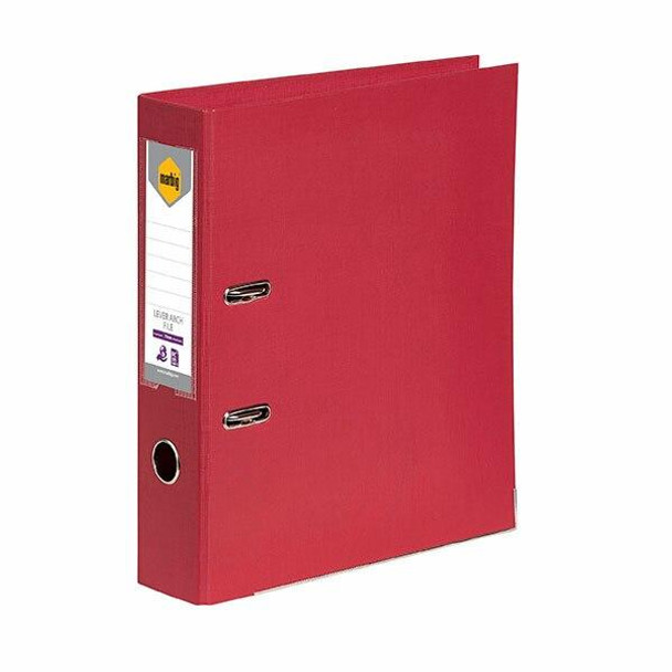 Marbig Lever Arch File Foolscap Deep Red X CARTON of 10 6502603
