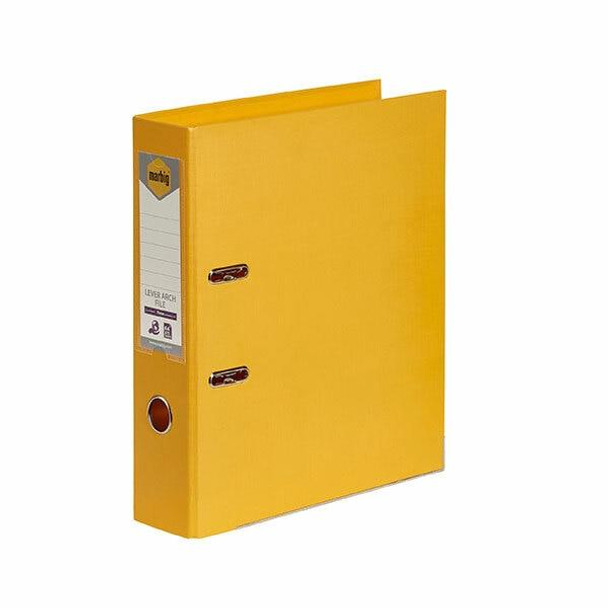 Marbig Lever Arch File A4 Pe Yellow X CARTON of 10 6601030