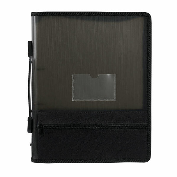 Marbig Zipper Binder W/ Extra Storage 25mm 2o Grey X CARTON of 10 6680002