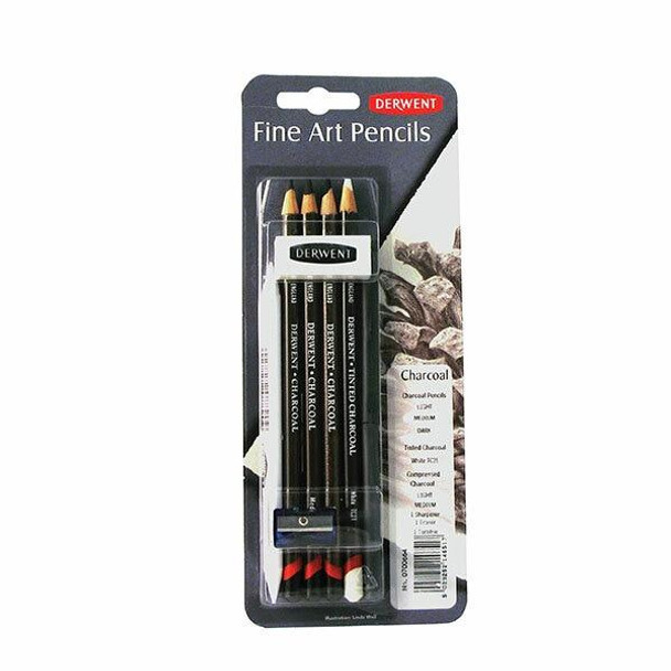 DERWENT Charcoal Mixed Media Blister X CARTON of 6 700664