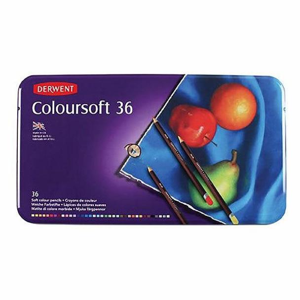 DERWENT Coloursoft Pencil Tin 36 X CARTON of 2 701028