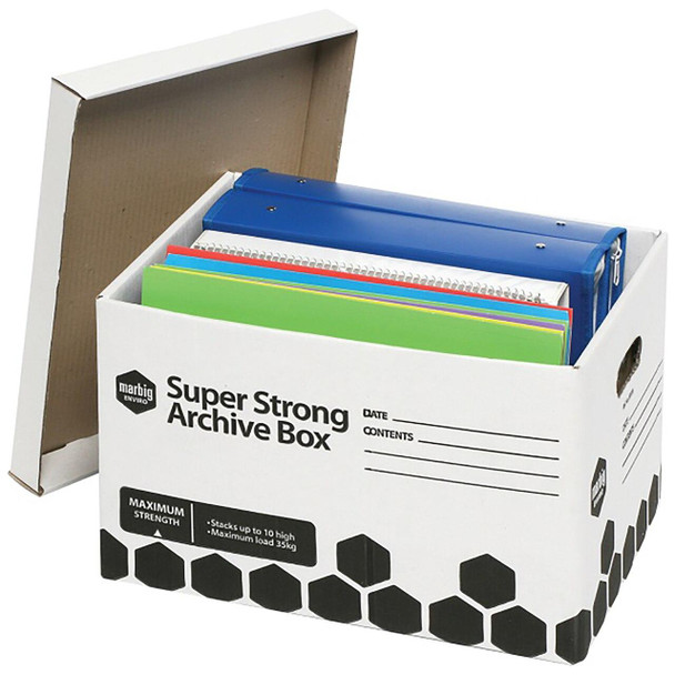 Marbig Archive Box Super Strong 2Pack X CARTON of 6 80036R/2