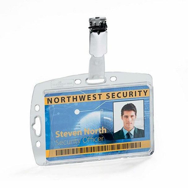 DURABLE Security Pass Holder With Clip Box25 800519