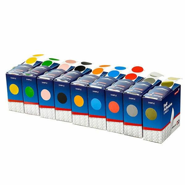 Quikstik Label Dispenser Circle 24mm Red 500 Labels 80108CRRED