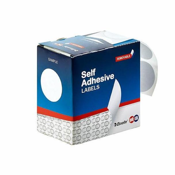 Quikstik Label Dispenser Circle 32mm White 350 Labels 80109CR